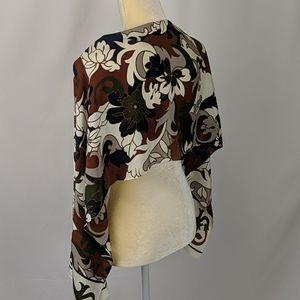 Vintage 1987 Ginnie Johansen 100% silk scarf